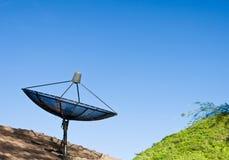 Satelliet schotelzwarte Royalty-vrije Stock Foto's