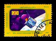 Satelliet, 20ste Verjaardag van de Mededelingen Satelli van 'INTELSAT' Stock Foto's