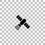 Satelliet vlak pictogram stock illustratie