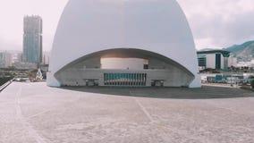 Satellietbeeld - Auditorio DE Tenerife Kerstman Cruz DE Tenerife spanje stock footage