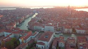 Satellietbeeld Italië Venetië stock videobeelden