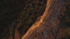 Satellietbeeld op berglandschap met zonsondergangachtergrond, ergens in Verenigde Staten schot royalty-vrije stock foto's
