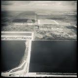 Satellietbeeld over Zuid-Florida stock afbeeldingen