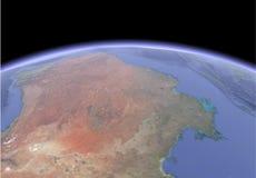 Satellietbeeld van aarde royalty-vrije illustratie