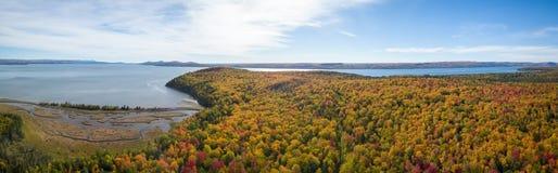 Satellietbeeld van Canadees Landschap stock fotografie