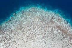 Satellietbeeld van Coral Reef Drop Off in Raja Ampat royalty-vrije stock afbeeldingen