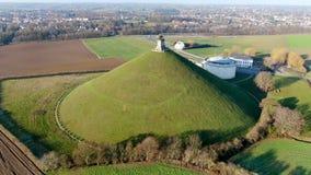 Satellietbeeld van de Hoop van de Leeuw met rond landbouwgrond stock footage