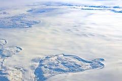 Satellietbeeld van de Ijskap van Groenland stock fotografie
