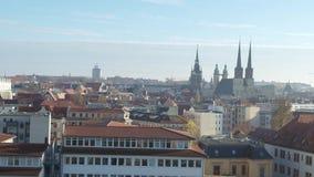 Satellietbeeld van de oude stad van Halle Saale stock videobeelden