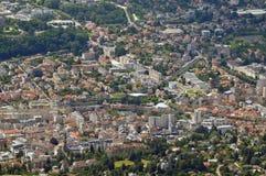 Satellietbeeld van de stad van Aix-les-Bains royalty-vrije stock foto