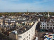 Satellietbeeld van de stad van Cambridge stock foto's