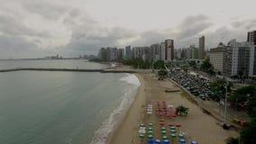 Satellietbeeld van de stad van Fortaleza, Ceara-staat, Brazilië stock video