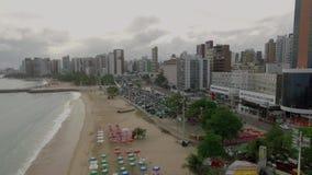 Satellietbeeld van de stad van Fortaleza, Ceara-staat, Brazilië stock footage