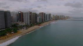 Satellietbeeld van de stad van Fortaleza, Ceara-staat, Brazilië stock videobeelden