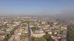 Satellietbeeld van de stadscentrum van Odessa en Opera en de bouw van het Ballettheater stock video