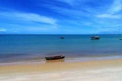 Satellietbeeld van de stranden van CaraÃva & Corumbau-, Porto Seguro, Bahia, Brazilië royalty-vrije stock foto's