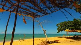Satellietbeeld van de stranden van CaraÃva & Corumbau-, Porto Seguro, Bahia, Brazilië stock afbeelding