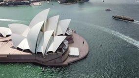 Satellietbeeld van de toeristische vlekken van Sydney Het toerisme van Australië stock video