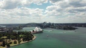 Satellietbeeld van de toeristische vlekken van Sydney Het toerisme van Australië stock videobeelden