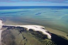 Satellietbeeld van Denham-vooruitzicht WA stock foto
