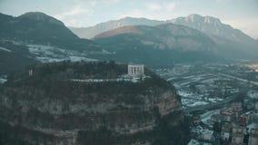 Satellietbeeld van Dutje Trento, een belangrijk historisch oriëntatiepunt van Trento, Italië royalty-vrije stock afbeeldingen
