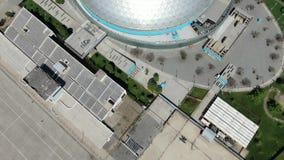 Satellietbeeld van een koepel stock footage