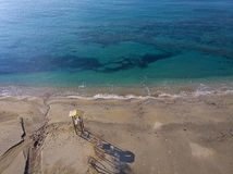Satellietbeeld van een strand in Attica, Griekenland royalty-vrije stock foto's