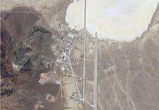 Satellietbeeld van gebied 51 stock foto