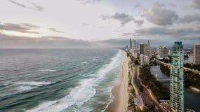 Satellietbeeld van Gold Coast-Stad stock foto