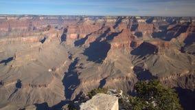 Satellietbeeld van het mooie Nationale Park van Grand Canyon van het Lipan-Punt van Zuidenrand stock videobeelden