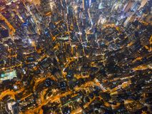 Satellietbeeld van Hong Kong Downtown, Republiek China Financi?le districts en commerci?le centra in slimme stad in Azi? Hoogste  stock afbeeldingen