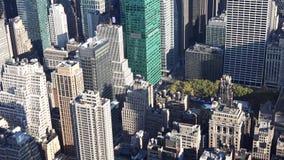 Satellietbeeld van Manhattan/Satellietbeeld van de wolkenkrabbers van de Uit het stadscentrum Stad van Manhattan New York stock afbeelding