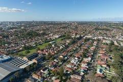 Satellietbeeld van Mascotte, van Rosebery en Coogee-voorsteden van Sydney Metro-gebied royalty-vrije stock afbeeldingen