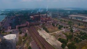 Satellietbeeld van van mijnbouwstreek en technologiepark stock footage