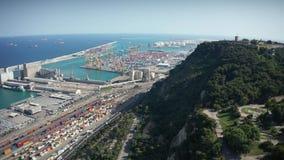 Satellietbeeld van Montjuic en haven Vell in Barcelona