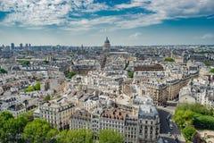 Satellietbeeld van Montmartre met de Basiliek van Sacre Coeur, Parijs, de hoofdstad van Frankrijk royalty-vrije stock afbeelding