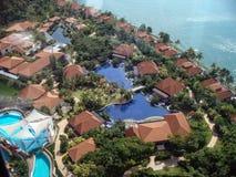 Satellietbeeld van mooie stad van Singapore royalty-vrije stock afbeeldingen