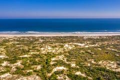 Satellietbeeld van oorspronkelijk strand in Heilige Augustine stock fotografie