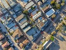 Satellietbeeld van Opdrachtbaai & Stranden in San Diego, Californi? De V.S. royalty-vrije stock afbeeldingen