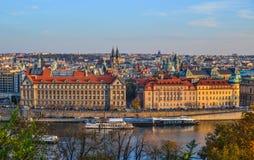 Satellietbeeld van Praag, Czechia royalty-vrije stock foto