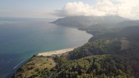 Satellietbeeld van Praia DE Albarquel, Setubal, Portugal stock footage