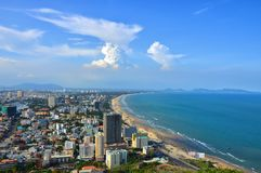 Satellietbeeld van Vung-Tau, Vietnam stock fotografie
