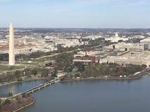 Satellietbeeld van Washington, gelijkstroom-horizon stock afbeelding