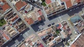 Satellietbeeld van woondeel van Tavira, Algarve, Portugal stock videobeelden