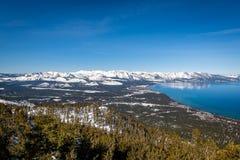 Satellietbeeld van Zuidenmeer Tahoe royalty-vrije stock afbeelding