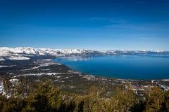 Satellietbeeld van Zuidenmeer Tahoe royalty-vrije stock afbeeldingen
