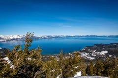 Satellietbeeld van Zuidenmeer Tahoe stock foto