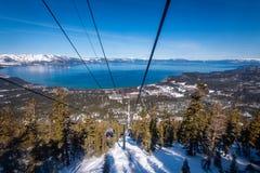 Satellietbeeld van Zuidenmeer Tahoe stock afbeeldingen