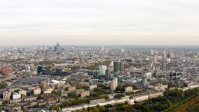 Satellietbeeldcityscape van de stedelijke woonbuurt van Londen stock afbeelding