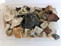 Satellietbeelddoos mineralen royalty-vrije stock foto's
